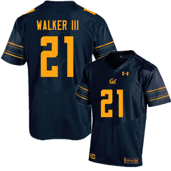 Men #21 Ricky Walker III Cal Bears UA College Football Jerseys Sale-Navy